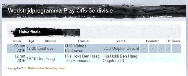 Play-off games